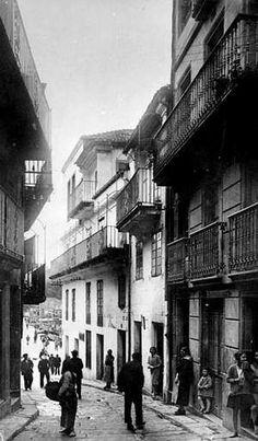 Juan Pando fotografió la calle Real en junio de 1948.