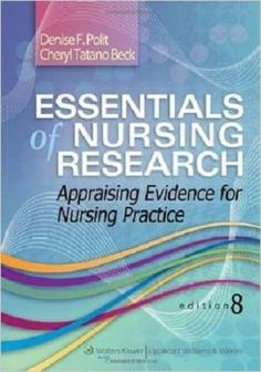 Free Test Bank for Essentials of Nursing Research 8th Edition by Polit is well-written with separate sections on quantitative and qualitative research offer greater continuity of ideas to better meet the needs of students and faculty. It includes lots of nursing free test bank questions followed by immediate answers, which facilitates students to expand their knowledge of research topics.