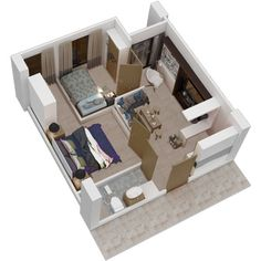 Tamansari Prospero - 2BR Type House Building, Building Design, Bed Room, Sims, House Plans, The Unit, Flats, How To Plan, Type