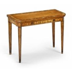 Jonathan Charles Satinwood Game Card Table 492146. h1Jonathan Charles Satinwood Game Card Table 492146_h1This attractive Jonathan Charles Satinwood Game Card Table 492146 is a small card table with cantilever extending action, inlaid playing cards and hand painted flowers.. See More Game Tables at http://www.ourgreatshop.com/Game-Tables-C1088.aspx