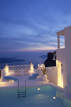 Photo Gallery for On the Rocks in Santorini, Cyclades Islands - Greece Travel This World Vacation Places, Vacation Destinations, Dream Vacations, Vacation Spots, Family Vacations, Vacation Trips, Santorini Hotels, Santorini Island, Luxury Houses