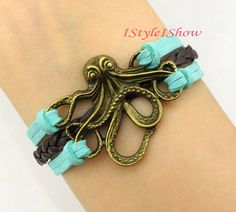 Hey, I found this really awesome Etsy listing at http://www.etsy.com/listing/150739348/octopus-bracelet-antique-bronze-octopus