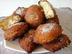 Malaysia Kókuszos Banán Fánk – Mediterrán ételek és egyéb finomságok… Fritters, Pretzel Bites, Baked Potato, Donuts, Sausage, Paleo, Muffin, Lime, Health Fitness