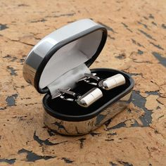 Personalised capsule cufflinks in chrome luxury box by SilverTreats on Etsy Engraved Gifts, Personalised Gifts, Gifts For Father, Gifts For Him, Secret Notes, On Your Wedding Day, Just Love, Special Gifts, How To Memorize Things