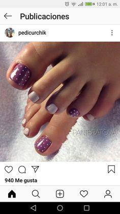 Toe Nail Color, Toe Nail Art, Nail Colors, Acrylic Nails, Pedicure Designs, Toe Nail Designs, Hair And Nails, My Nails, Feet Nails