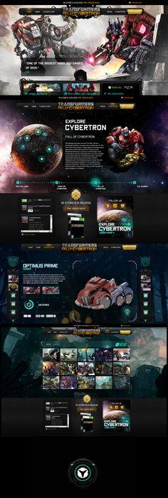 Unique Web Design, Transformers @oathbreaker #WebDesign #Design (http://www.pinterest.com/aldenchong/)