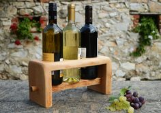 Rustic Wine Rack Solid wood Wine Stand Wooden от WoodRestart