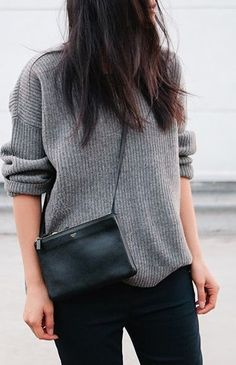 grey and black // céline // fall fashion