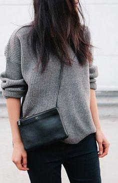grey and black // céline // fall fashion