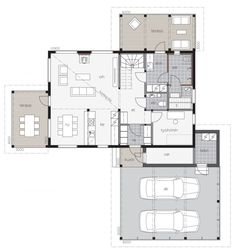 Kivilahti A, 1 krs Thing 1, My Dream Home, Floor Plans, Layout, House, Sims, Interiors, Home Decor, Page Layout