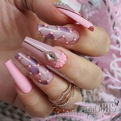 2020 Beautiful Nail Art Designs to Copy Glam Nails, Dope Nails, Bling Nails, Fun Nails, Beautiful Nail Art, Gorgeous Nails, Pretty Nails, Fabulous Nails, Nail Swag