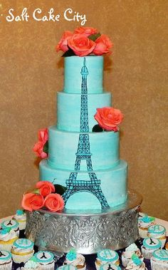 Salt Cake City Paris themed Wedding Cake