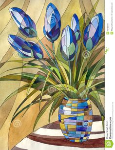 Abstract Flowers In A Vase - Download From Over 40 Million High Quality Stock Photos, Images, Vectors. Sign up for FREE today. Image: 14780171