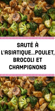 Broccoli chicken and mushrooms - My WordPress Website Cooking Time, Cooking Recipes, Healthy Recipes, Stuffed Mushrooms, Stuffed Peppers, Chicken Mushrooms, Chicken Broccoli, Asian Broccoli, Chicken Stir Fry