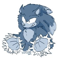 One of my friends wanted me to draw werehog Sonic and counting I haven't really drawn anything of this version of Sonic at all. Sonic The Hedgehog, Shadow The Hedgehog, Sonic Unleashed, Sonic Franchise, Sonic Adventure, Eggman, Sonic Fan Characters, Sonic And Shadow, Sonic Fan Art
