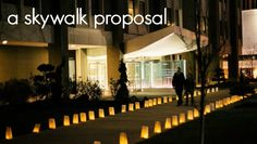 Kelly and Mark's skywalk proposal!