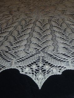 Circular Christening Shawl in Estonian Style available from my Etsy Shop