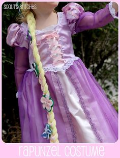 time to get my craft on: Rapunzel Costume Repunzel Dress, Repunzel Costume, Tangled Costume, Princess Elsa Dress, Princess Outfits, Tangled Rapunzel, Tangled Dress, Tangled Party, Toddler Halloween Costumes