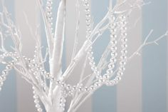 Ginger Ray Pearl Garland , Great for a wisihing tree or centrepiece - Wedding/Party Decoration - Vintage Lace Table Centerpieces, Wedding Centerpieces, Wedding Table, Wedding Ideas, Diy Wedding, Centrepiece Ideas, Wedding White, Wedding Details, Wedding Stuff