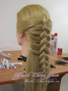 Прически из косичек, фото. Плетение кос на длинные волосы.