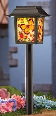 solar butterfly pathway garden light stakes from collections etc