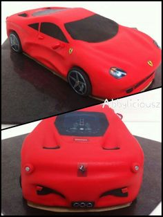 Small Birthday Cakes, Dad Birthday, Simply Biscotti, Ferrari Cake, Car Themed Parties, Car Cakes, Sculpted Cakes, Cupcake Icing, Car Themes