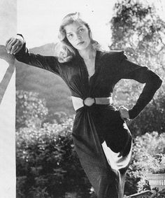 Lauren Bacall on the set of To Have and Have Not,...