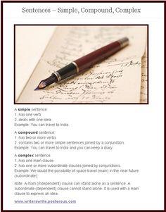Sentences: Simple, Compound, & Complex