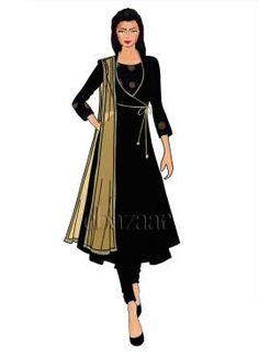 64 Ideas for fashion design sketches indian anarkali suits Fashion Model Sketch, Fashion Sketches, Fashion Models, Latest Anarkali Designs, Fashion Illustration Dresses, Fashion Illustrations, Angrakha Style, Stockholm Fashion Week, Indian Anarkali