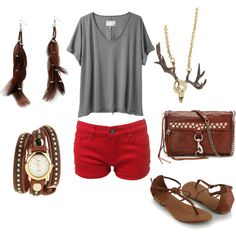 Cute summer look. Love the red shorts