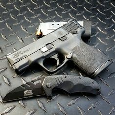 Smith and Wesson M&P Shield 45 & Mtech Ballistic Flip Folder. Smith And Wesson Shield, Smith N Wesson, M&p Shield 9mm, 45 Acp, Shooting Sports, Gun Control, Mass Effect, Concealed Carry, Pistols