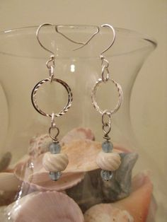 A personal favorite from my Etsy shop https://www.etsy.com/listing/268434796/beachy-earrings-designed-with-blue-and