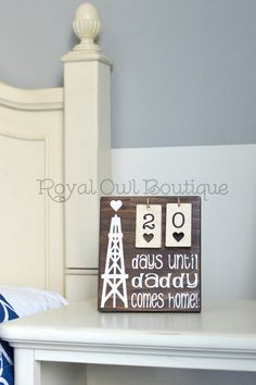 Oilfield Daddy Countdown Sign, Days until Daddy is Home Sign, Countdown Sign… Oilfield Girlfriend, Oilfield Trash, Oilfield Wife, Daddy Come Home, Wife And Kids, Oil Rig, Baby Boy Rooms, Home Signs, Wooden Signs