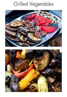 Grilled Vegetables / Healthy Appetizers / The Fresh Table Recipes / Grilled zucchini / Grilled Squash / Grilled bell peppers