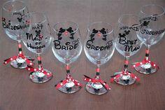 Wedding Gifts Disney Mickey and Minnie Wedding Wine Glass Set 6 by GameDayCheers - Disney Wedding Gifts, Minnie Y Mickey Mouse, Mickey And Minnie Wedding, Best Wedding Gifts, Disney Mickey, Disney Weddings, Disney Bride, Themed Weddings, Walt Disney
