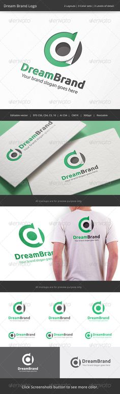 Dream Brand Letter D Logo — Vector EPS #branding #flat shadow • Available here → https://graphicriver.net/item/dream-brand-letter-d-logo/8232469?ref=pxcr