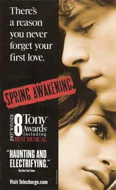 Never heard anything from Spring Awakening until today when I saw a Vitamin String Quartet cover from it. I Spotified the cast recording, and now, I'm hooked! I already knew the story, but the music is just beautiful!