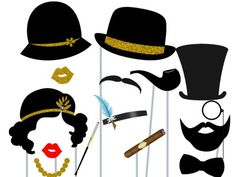 Print Yourself Roaring Twenties Photo Booth Party Props