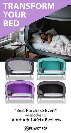 The Bed Tent for Better Sleep. My Highly sensitive kid would love this! Astuces Camping-car, Girls Bedroom, Bedroom Decor, Bedroom Office, Bedroom Ideas, Bedrooms, Wall Decor, Zelt Camping, Packing List Beach