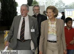 Princess Marie Aglae of Liechtenstein with her grandson in tow (red shirt) Prince Alfons