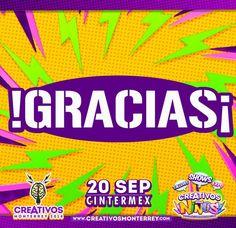 GRACIAS TOTALES!! a toda la gente que estuvo presente en Creativos a niños y Creativos Monterrey, nos vemos el próximo año.