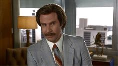 """Ron Burgundy (Will Ferrell) saying """"that doesn't make any sense"""" to Brian Fantana during the 2004 film Anchorman : The Legend of Ron Burgundy. Reaction Pictures, Best Funny Pictures, I Am The Walrus, Ron Burgundy, Will Ferrell, Atheist, Make Sense, Going To The Gym, Humor"""