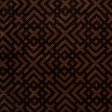 Turkish Espresso and Woodsmoke Geometric Acrylic-Polyester-Viscose Chenille