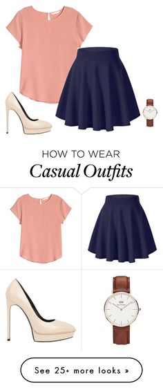 """""""Untitled #2075"""" by street-style-98 on Polyvore featuring Daniel Wellington, Yves Saint Laurent, women's clothing, women, female, woman, misses and juniors"""
