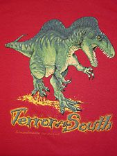 Terror of the South T-shirt (Red)  Adult (S–XL): $18.95 Adult (XXL): $19.95 Children's: $16.95