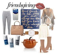 """""""Friendsgivng: Come Classy, Leave Happy"""" by katie-ermeus on Polyvore featuring Nasty Gal, Primitives By Kathy, Kate Spade, Lime Crime, CLUSE, MANGO, Casetify, Christian Dior and Martha Stewart"""