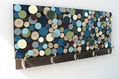 Home-Dzine - Coat rack with wood slices