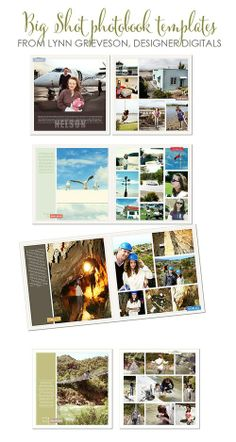BIG-SHOT-PHOTOBOOK-TEMPLATES, Lynn Grieveson, Designer Digitals