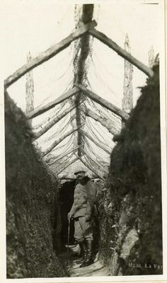 Serbian Front Line Trench by  Unknown Artist - WWI