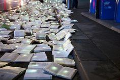 Literature vs Traffic: 10,000 books fill the streets of Melbourne